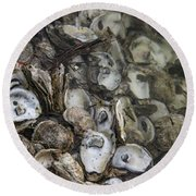 Oysters Four Round Beach Towel