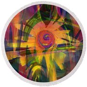 Oz And Poppies Round Beach Towel