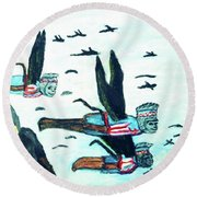 Oz Flying Monkeys  Round Beach Towel