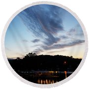 Ozark Sunrise 6 Round Beach Towel