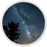 Ozarks Milky Way Round Beach Towel