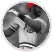 Ozzie Smith Round Beach Towel