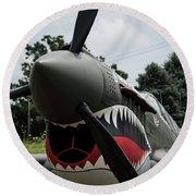 P - 40 Warhawk - 5 Round Beach Towel