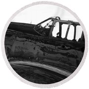 P 51 C Round Beach Towel