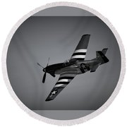 P-51d Quick Silver Round Beach Towel