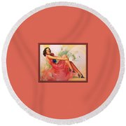 p rarmstrong 091 Rolf Armstrong Round Beach Towel