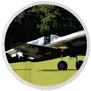 P40 Take Off Round Beach Towel