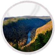 Pa Grand Canyon-pine Creek Round Beach Towel