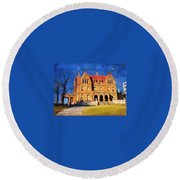 Pabst Mansion Round Beach Towel