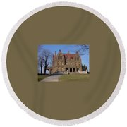 Pabst Mansion Photo Round Beach Towel