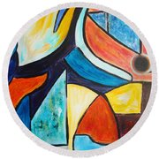 Pace And Place Round Beach Towel