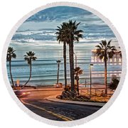Pacific And 1st Street Round Beach Towel