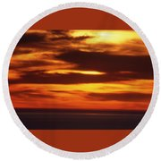 Pacific Backdrop  Round Beach Towel