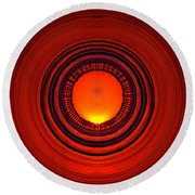 Pacific Beach Pier Sunset - Abstract Round Beach Towel