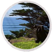 Pacific Beauty Round Beach Towel