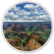 Pacific Grand Canyon Round Beach Towel