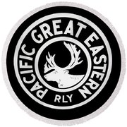 Pacific Great Eastern Round Beach Towel