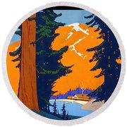 Pacific Northwest, American And Canadian Rockies, National Park Round Beach Towel
