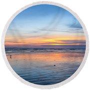 Pacific Northwest Sunrise Round Beach Towel