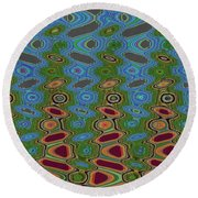 Pacific Ocean From Oregon Abstract Round Beach Towel