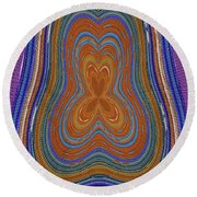 Pacific Ocean Oregon View Abstract # 8085wwpct Round Beach Towel