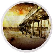 Pacific Pier Round Beach Towel