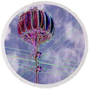 Pacific Science Center Lamp 2 Round Beach Towel