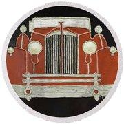 Packard 1937 Red Round Beach Towel
