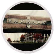 Packard Plant Round Beach Towel