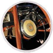 Packard Steering Wheel Round Beach Towel