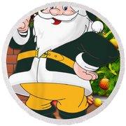Packers Santa Claus Round Beach Towel