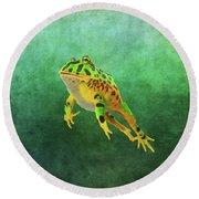 Pacman Frog Round Beach Towel