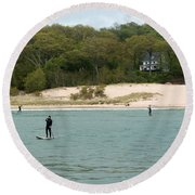 Paddle Board Round Beach Towel