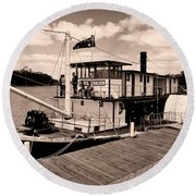 Paddlesteamer Round Beach Towel