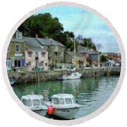 Padstow Harbour - P4a16021 Round Beach Towel
