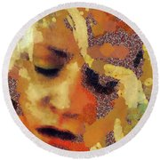 Pain By Mary Bassett Round Beach Towel