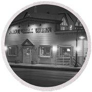 Paint Creek Tavern Round Beach Towel