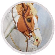 Paint Me A Cowpony Round Beach Towel