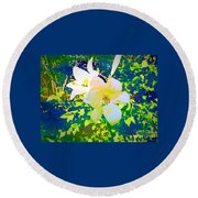 Paint Me In Water Color Said The Lilies To The Artist Round Beach Towel