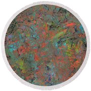 Paint Number 17 Round Beach Towel