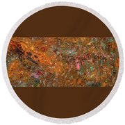 Paint Number 19 Round Beach Towel by James W Johnson