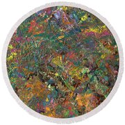 Paint Number 29 Round Beach Towel