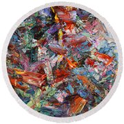 Paint Number 42-a Round Beach Towel