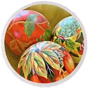 Painted Balls Round Beach Towel