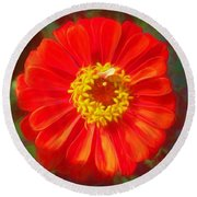Painted Beauty Round Beach Towel