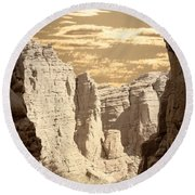 Painted Canyon Trail Round Beach Towel
