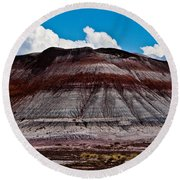 Painted Desert #5 Round Beach Towel