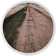 Painted Desert Road #4 Round Beach Towel