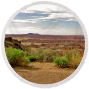 Painted Desert Vista Round Beach Towel
