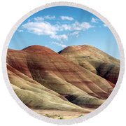 Painted Hills Colors Round Beach Towel